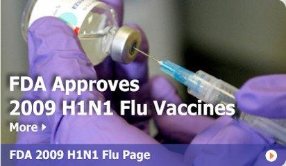 FDA aprueba vacunas ah1n1 2009